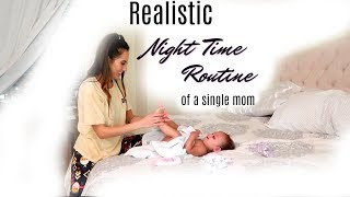 Realistic Night Time Routine of a Single Mom || Bedtime Routine with a Toddler || Solo Mom Routine