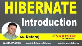 Introduction to Hibernate   Hibernate Tutorial   Mr. Nataraj