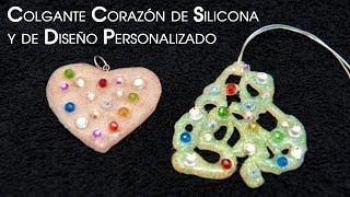 Colgante Corazón de Silicona Glow in the Dark y de Diseño Personalizado