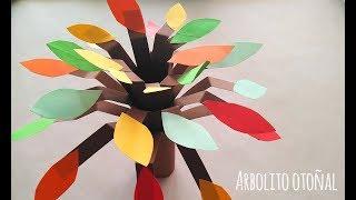 Manualidades de otoño para niños: ¡Un árbol de papel! | Manualidades para peques