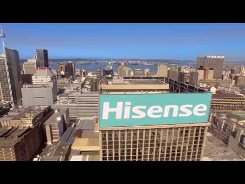 Drone footage of the Hisense Sky Sign in Durban