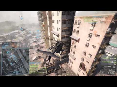 Battlefield 4 정헬/Scout helicopter 118kill Flood zone