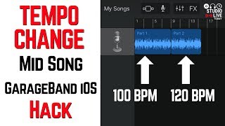 Download Lagu GarageBand tempo change mid song hack in iOS (iPhone/iPad) mp3
