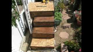 How To Install Outdoor Carpeting Over Plywood Stairway - Home Tips