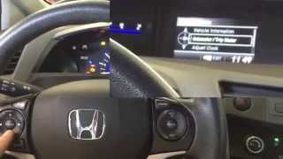 How to reset oil change reminder on 2012 Honda Civiv