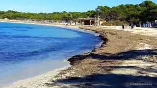 Traumstrand Es Trenc Part 1, Mallorca Tourist Video mit  Street Map