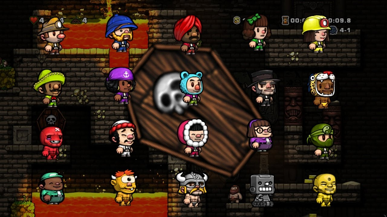 all characters rng 3 32 11 12 speedrun spelunky youtube