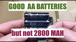 Bonai AA Batteries (Not 2800 millamps but still good batteries)