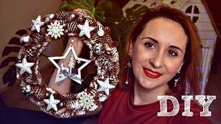 dIY. Новогодний декор из шишек и товаров из Фикс Прайс. Венок, ёлочка, украшения