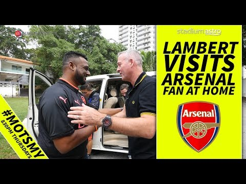 Paul Lambert visits Arsenal fan | Man On The Street | Astro SuperSport