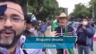 Al asistir al plantón del Frente Nacional Anti-AMLO, el bloguero Paul Velázquez se vio envuelto en una discusión con integrantes de dicha manifestación, la cual quedó grabada y difundida en redes sociales