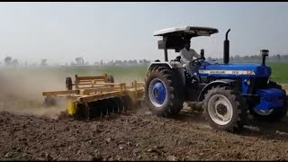 NEW HOLLAND 5630 4x4 POWER FULL TRACTOR HARROW  💪💪