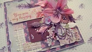 """Обзор цветочной открытки """"Ты мое счастье"""""""