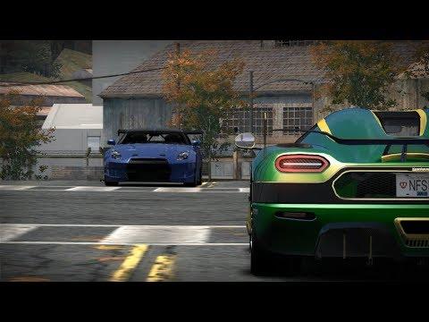 Nissan GTR R35 vs Koenigsegg Agera RS Naraya ( NFS MW Blacklist 4 )