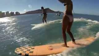 Eimy and Mayu Surf Pops in Waikiki (6-21-2015)
