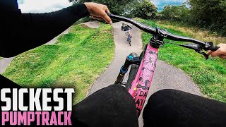 RIDING THE PERFECT PUMP TRACK AND TRYING NEW MTB SPOTS!!