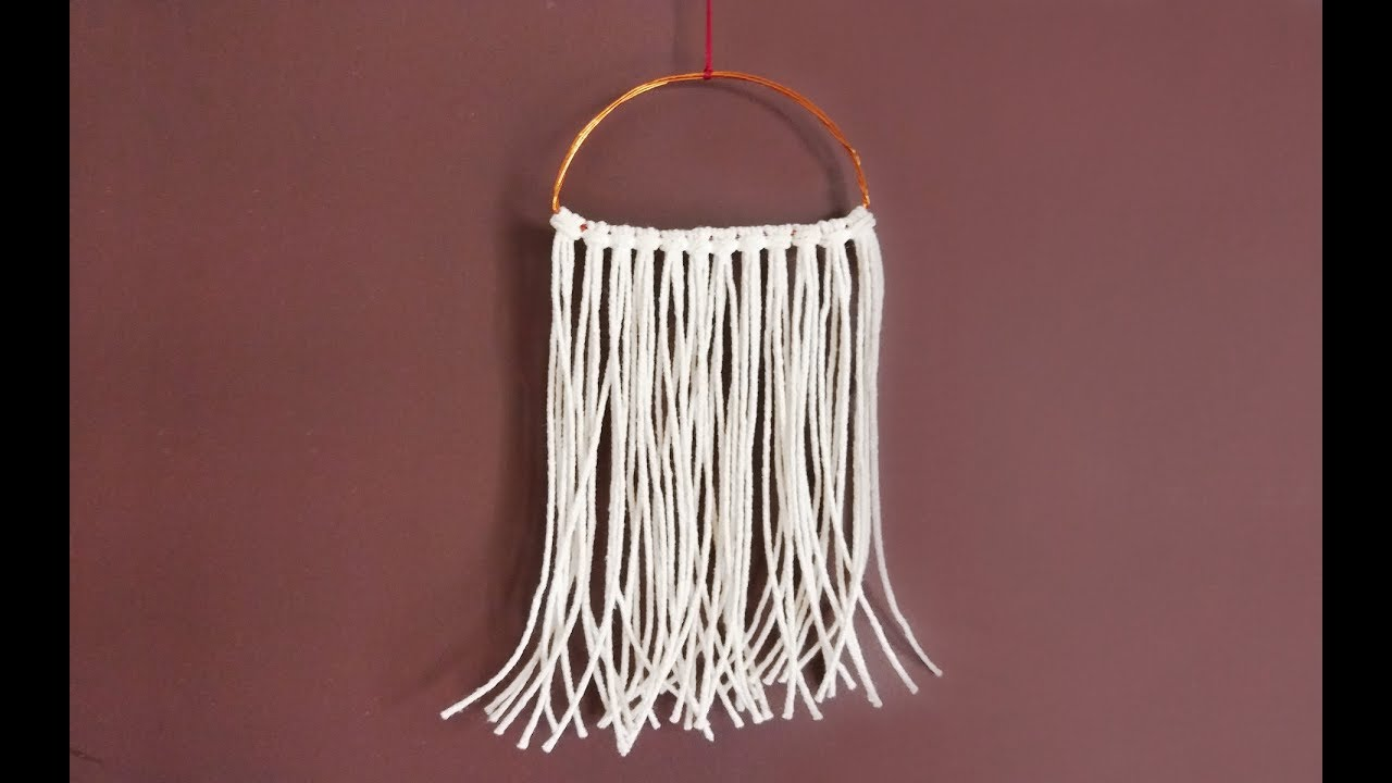 How To Diy Macrame Wall Hanging Tutorial For Beginners