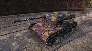 WoT ELC EVEN 90 Light Tank in City Map - Ensk