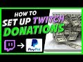 How to setup donations on Twitch! Paypal (2019)