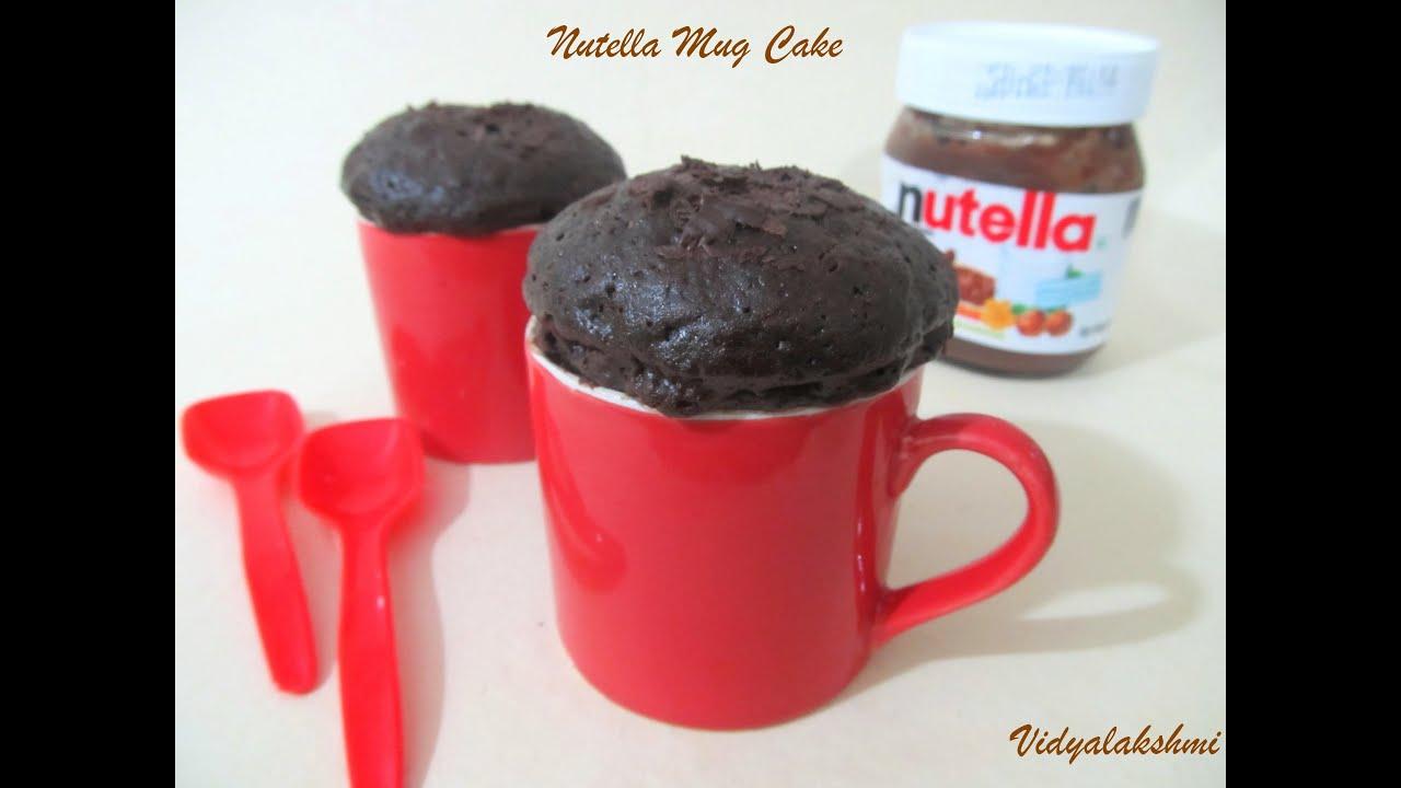 Mug Cake Nutella Image