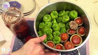 Sofranıza Lezzet Katacak  Etli  Biber Dolması ve Patlıcan Dolması