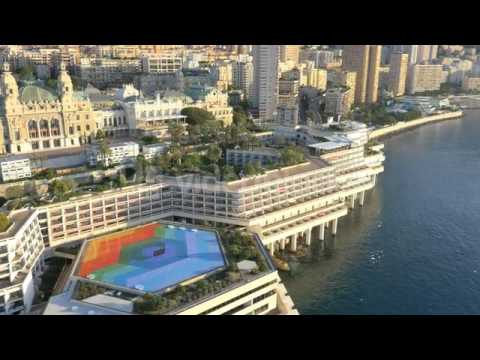 monaco aerial drone yacht harbour marina banking transport v1kemu3t