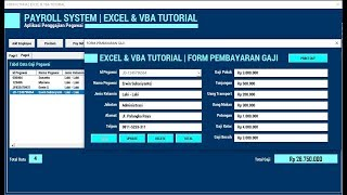 Membuat Form Pembayaran Gaji   Payroll System   Aplikasi Penggajian - Part 4   Excel & Vba Tutorial
