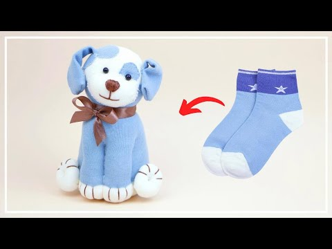 Собака из носка своими руками видео