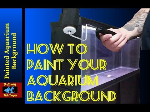 How To Paint Your Aquarium Background - Ordinary Fish Keeper