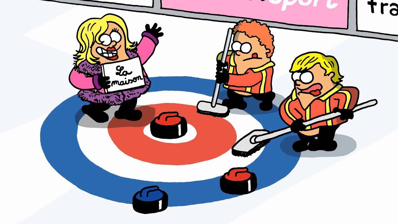 les jeux en patates le curling jo sotchi 2014 youtube. Black Bedroom Furniture Sets. Home Design Ideas