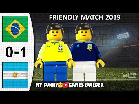 Brazil Vs Argentina 0-1 • International Friendly 15/11/2019 • All Goals Highlights LEGO Football