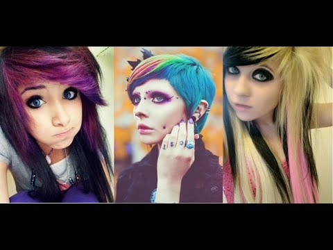 Latest Emo Girl Hairstyle Trends Fashion Looks 2018 Youtube
