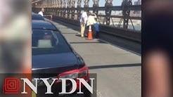 Road rage fight stops traffic on Brooklyn Bridge