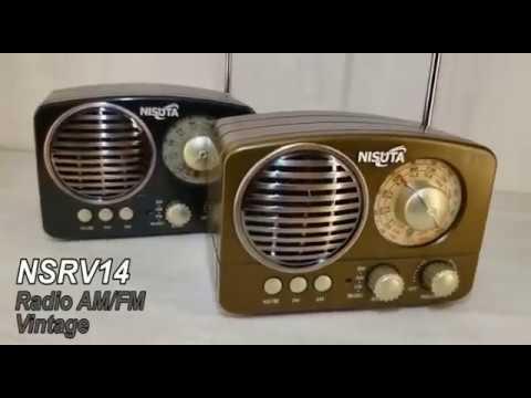 Radio AM/FM Vintage (NSRV16) Con MP3/BT,AUX