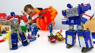Видео с игрушками: #Трансформеры и бластер! Саундвейв устроил вечеринку! Фабрика Героев.