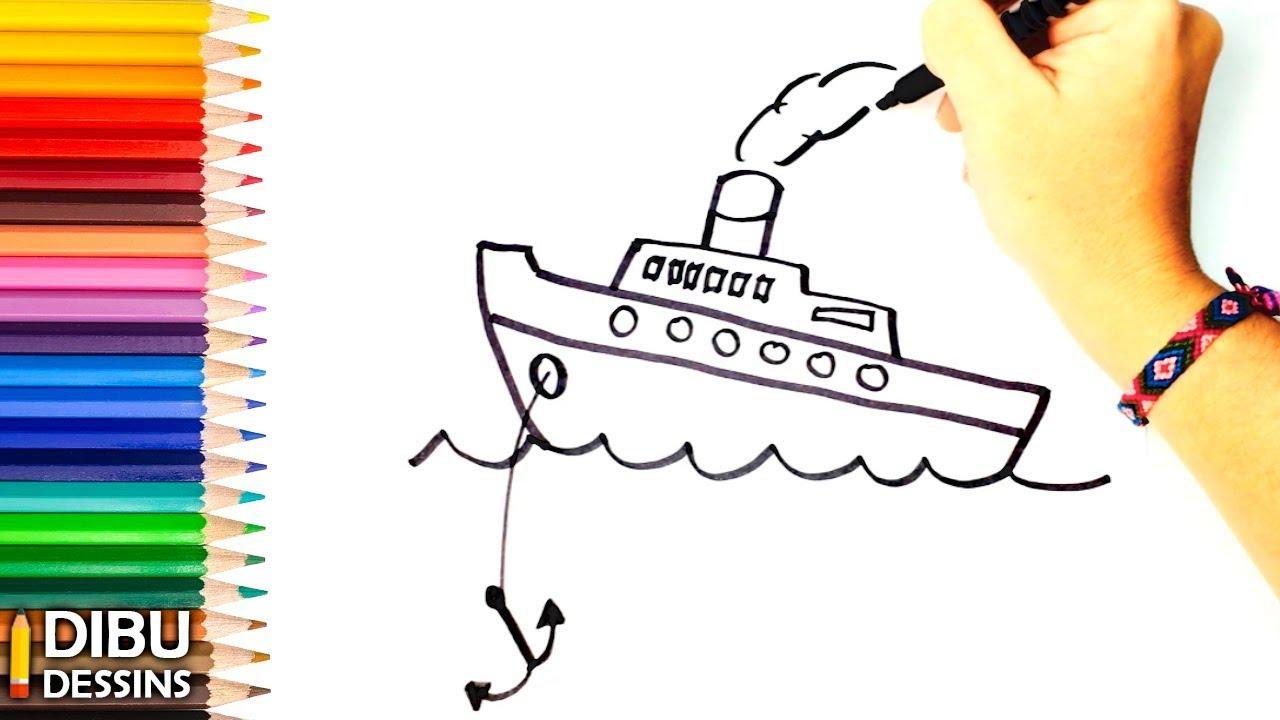 Comment Dessiner Un Bateau Dessin De Bateau Youtube