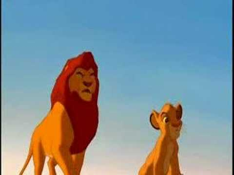 The Lion King- With Arms Wide Open- Simba and Mufasa