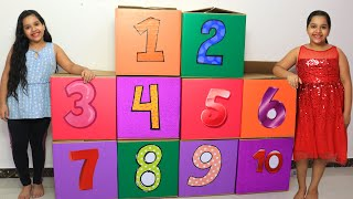Shafa Teaches Numbers 1 to 10 for Children | Surprise Boxes