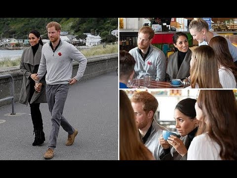 Meghan Markle steps out in style as she meets young people to discuss mental health with Harry