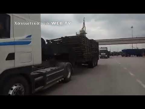 Στρατιωτικά οχήματα στα Χανιά για αποκατάσταση γεφυρών