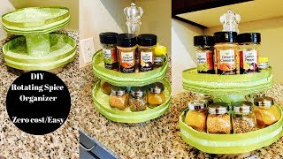DIY Foamboard Rotating Spice Organizer- Kitchen Organization IPantry OrganizationI Reallife Realhome