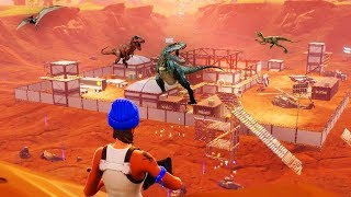 Dinosaurs are invading the Fortnite map.. take cover *WARNING - SOS*