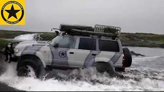 Island mit dem Toyota Landcruiser HDJ80 Arctic Truck