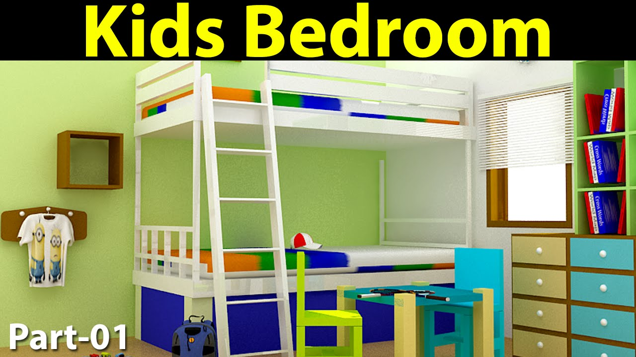 Kids Bedroom Design In 3d Max Part 01 Youtube