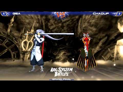 Arc System Battles -BBCSEX 2vs2- Grand Final- Gea[Hakumen]+Revers[Bang] vs Sacred[Mu]+Chaduf[Lambda]