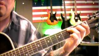 How to play Down On The Corner by Creedence Clearwater on guitar by Mike Gross