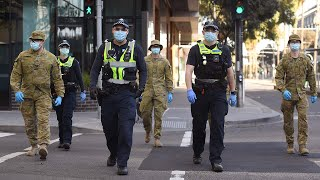 video: Melbourne curfew takes effect as disaster declared in state of Victoria
