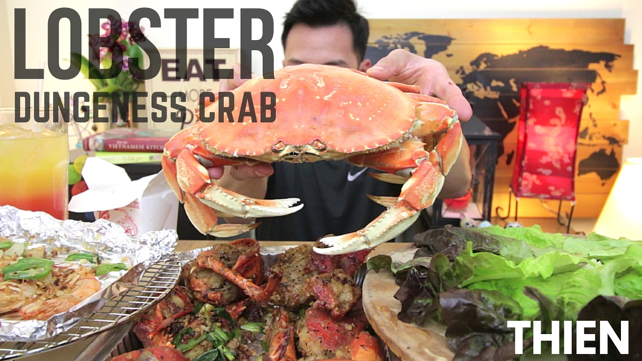 [mukbang with THIEN]: Chinese/Vietnamese-Style Lobster, Dungeness Crab, and Salt & Pepper Shrimp ...