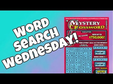 WORD SEARCHIN' COURTESY OF THE CALIFORNIA LOTTERY! $10 Mystery Crossword