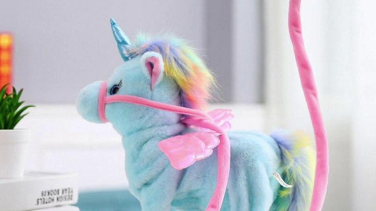 2018 Electric Walking Unicorn Plush Toy Christmas Birthday Gift For Children